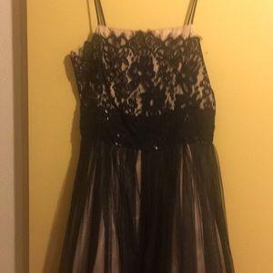 Black Antique Lace cocktail Dress